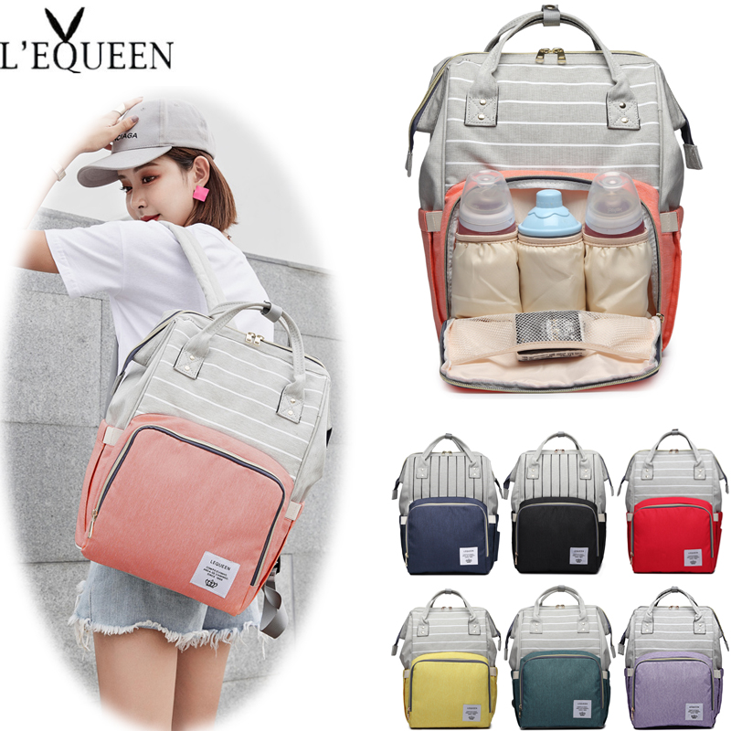 Lequeen Diaper Bag Nappy Nursing Bags Women Travel Backpacks Fashion Mummy Maternity Bag Large Capacity Baby Bag