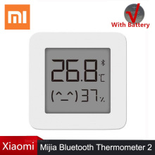 Hot Xiaomi Mijia Bluetooth Thermometer 2 Wireless Smart Electric Digital Hygrometer Thermometer Humidity Sensor Work Mi Home APP