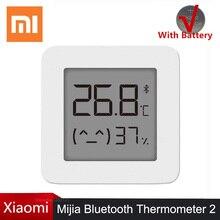 Nóng Xiaomi Mijia Bluetooth Nhiệt Kế 2 Thông Minh Không Dây Điện Kỹ Thuật Số Nhiệt Ẩm Kế Nhiệt Kế Cảm Biến Độ Ẩm Làm Việc APP Mi Home