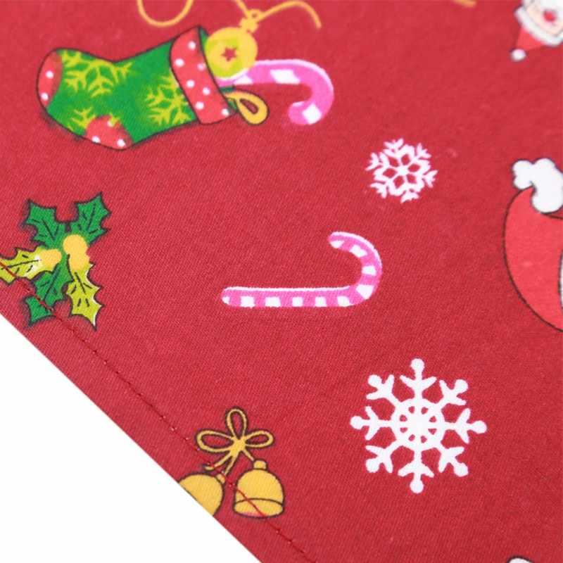 Filhote de Cachorro Do Gato do cão Collar Scarf Lenço Bandana Natal Pet Empate Com Alces Papai Noel Impressão Cachecol Babadores Para Chihuahua
