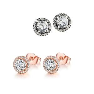 2 Colors Classic Elegance Stud Earrings