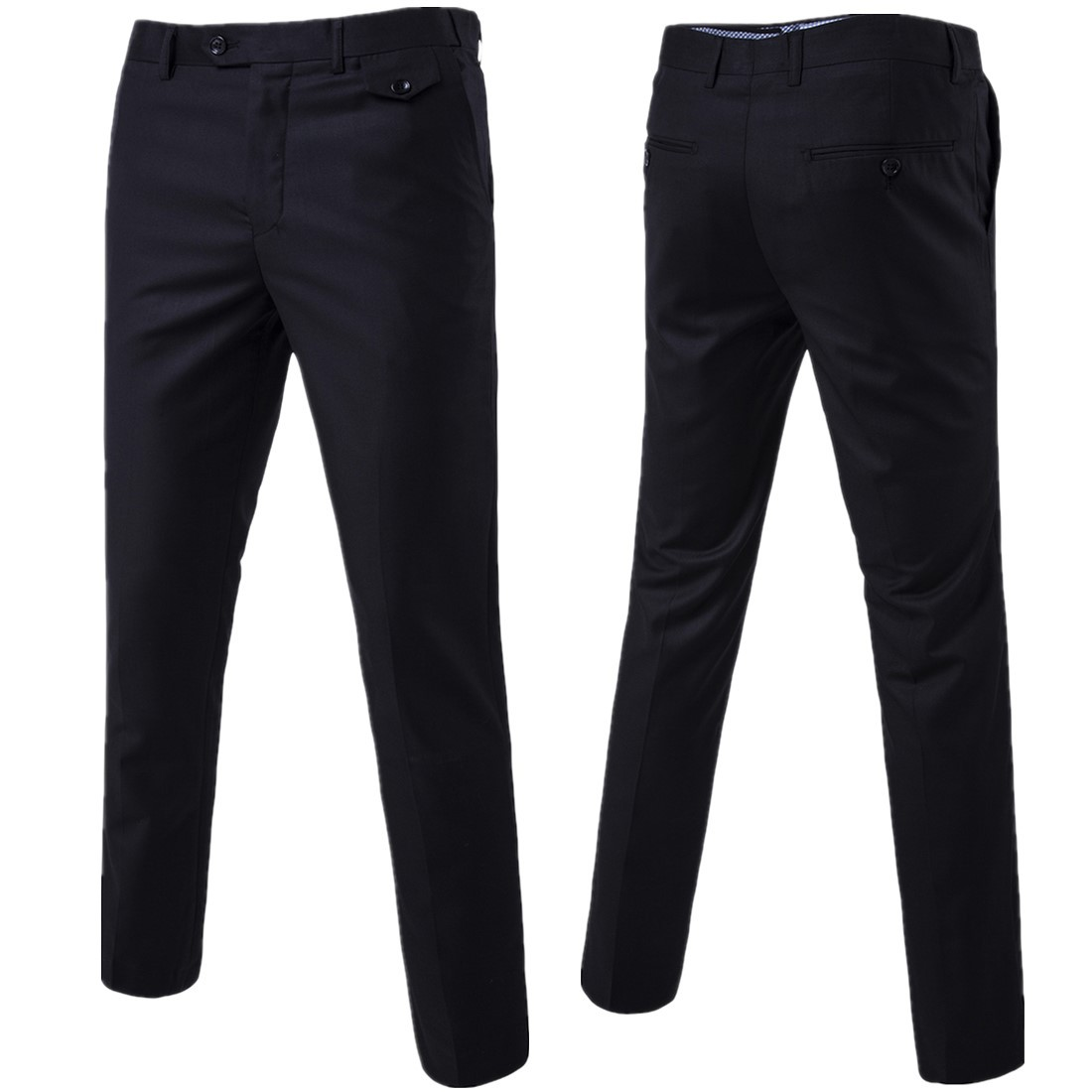 2020 Slim Fit Spring Thin Casual Business Men Formal Suit Pants Wedding Bridegroom Plus Size Solid Color Asian Size Trousers