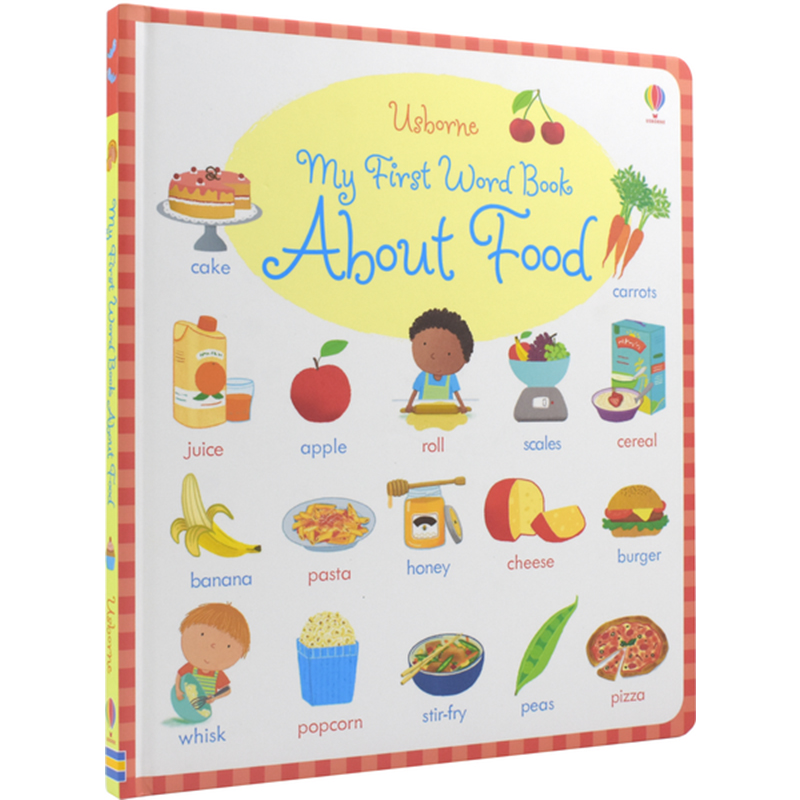 Usborne English Picture Board Book My First Word Book About Food English Dictionary For Baby And Kids Early Education Reading