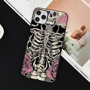 Image 3 - YNDFCNB Gothic Fashion Skull Phone Case for iPhone 11 12 pro XS MAX 8 7 6 6S Plus X 5S SE 2020 XR cover