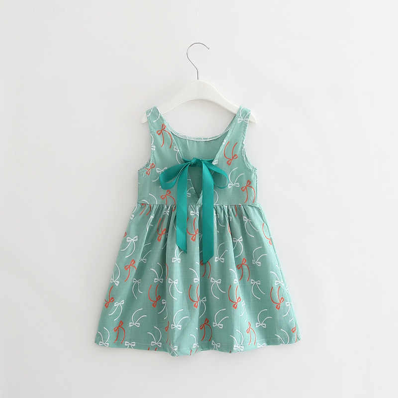 Vestido Da Menina de verão Crianças de Algodão Sem Mangas Vestidos de Impressão Cereja Crianças Vestido para Meninas Moda Roupas Meninas