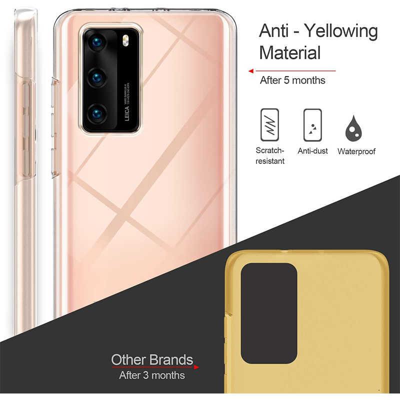 360 כפול סיליקון רך Huawei Honor 9C 8A 8S 10 לייט 10i 20S Y7P Y6S Y9 y5 Y6 2019 Mate20 לייט P40 פרו מלא כיסוי