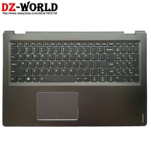 C-Cover Backlit-Keyboard Touchpad Palmrest Laptop Lenovo Shell with Us-English for Flex