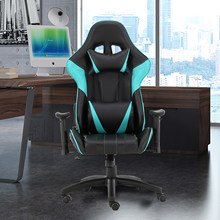 Two Colors Computer Desk Chair Gaming Chairs Office Swivel Chairs with headrest and Lumbar Pillow