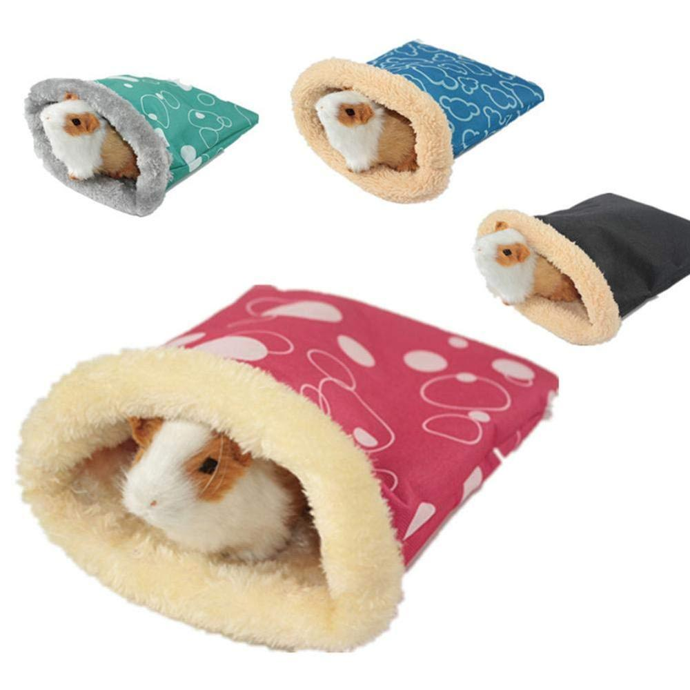 Small Pet Hamster Sleeping Bag Pouch Soft Warm House For Winter Guinea Pig Hedgehog Bed Multiple  Waterproof Windproof TP