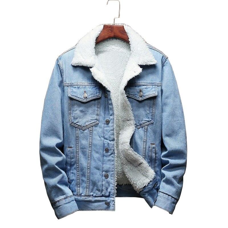 Warm winter denim jacket for Female 2019 New Fashion Autumn Winter Wool lining Jeans Coat Women Bomber Jackets casaco feminino-in Jackets from Women's Clothing on AliExpress - 11.11_Double 11_Singles' Day 1