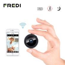 FREDI 1080P HD WiFi Mini IP kamera dahili pil kablosuz güvenlik kamera kızılötesi gece görüş CCTV güvenlik kamerası