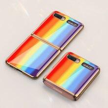แฟชั่นสำหรับSamsung Galaxy Z Flip 5GกรณีชุบกรอบPlexiglassสำหรับGalaxy Z Flip 5G