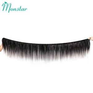 Image 2 - Monstar 1/3/4 บราซิลตรงผมสานสีธรรมชาติ Weft 100% มนุษย์ผม 8   34 36 38 40 นิ้ว Remy Hair Extensions
