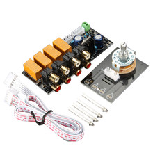 O Sinyal Input Selector Relay Papan Sinyal Amplifier Penguat Papan RCA untuk Speaker(China)