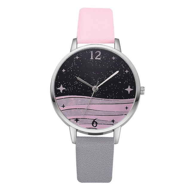 Fashion Women Starry Sky Dial Quartz Watches for Stylish Luxury Bracelet Watch Ladies Dress Creative Clock Watches Relojes Mujer