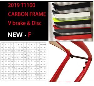 Image 1 - מפורסם T1100 פחמן כביש מסגרת 3k 1K כביש אופני פחמן דיסק ציר כביש מסגרת bicicleta פחמן אופניים מסגרת bici velo