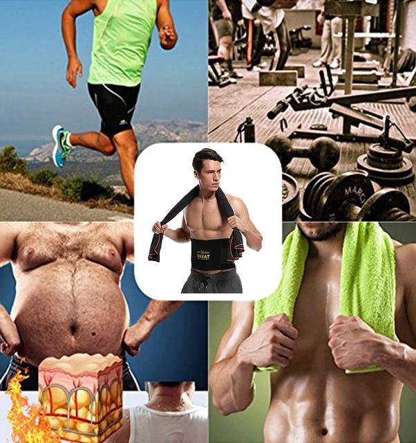Waist Trimmer Sweat Belt Weight Loss Waist Trainer Slimming Belt for Men and Women Fat Burner Low Back Support Mens Shaper 3