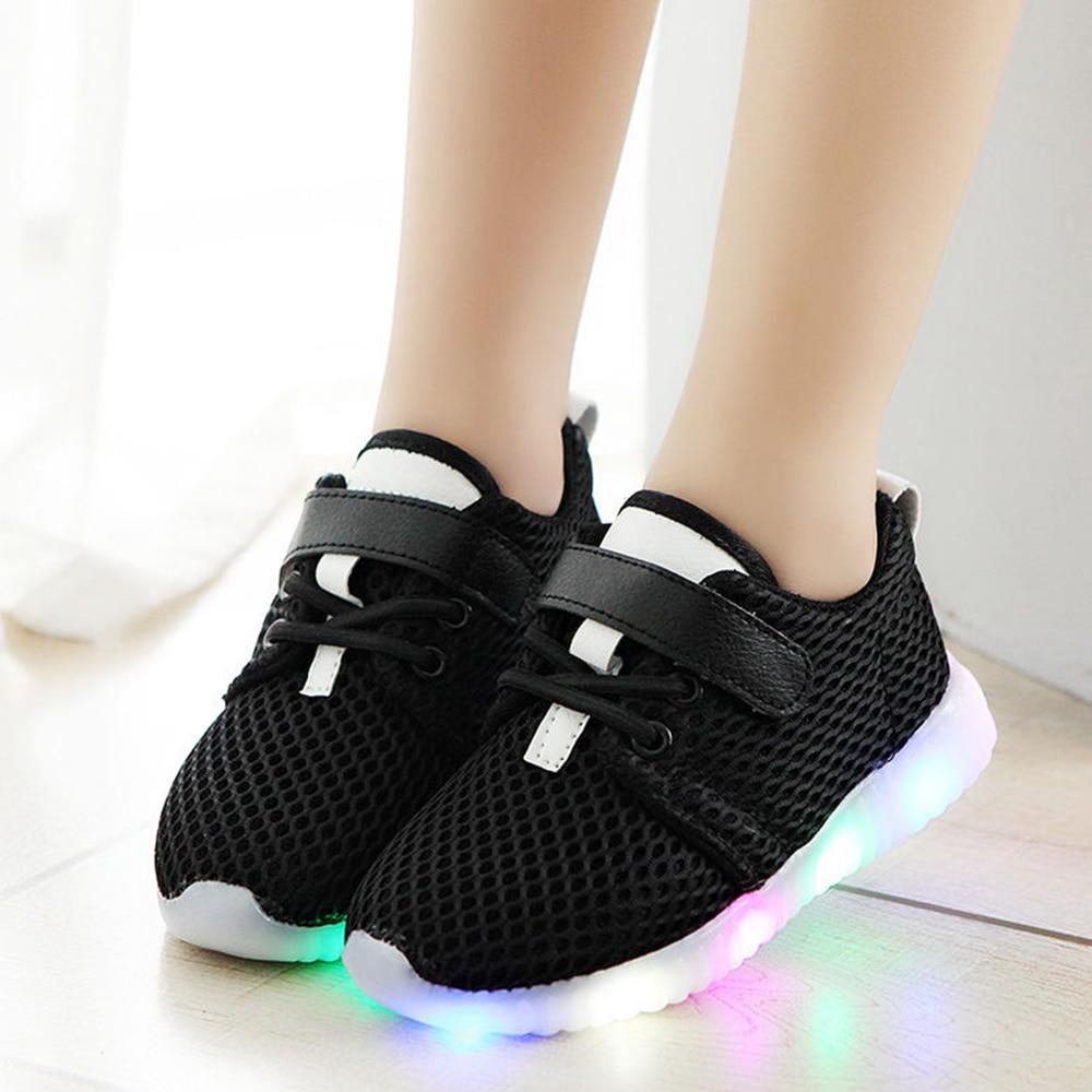 Fashion Children Light Shoes Luminous Unisex Casual Sport Running Flashing Light Sneakers For Boys Girls Kids Dropshipping D25