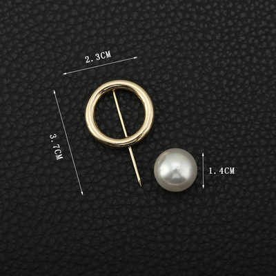 5PC Korean New Pearl Brooch Women's Open Shirt Pearl Brooch Fashion Ladies Round Pin Badge Sweater Coat Jewelry Brooches Girl