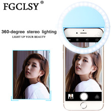 FGCLSY Selfie LED Ring Flash Light Portable Mobile Phone lens Enhancing Light Supplementary Lighting Selfie Luminous Ring Lamp