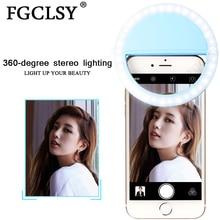 FGCLSY Selfie LED حلقة ضوء فلاش المحمولة عدسة الهاتف المحمول تعزيز ضوء الإضاءة التكميلية Selfie مصباح حلقة مضيئة