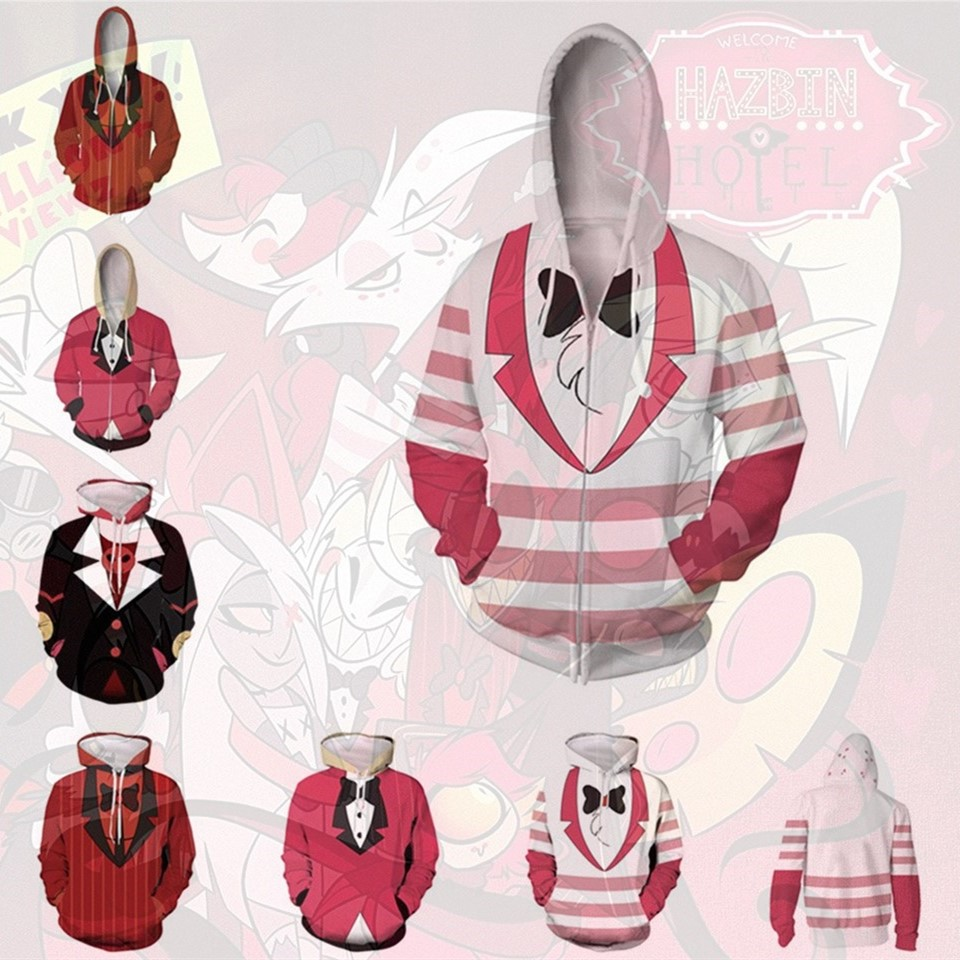 Anime Hoodie Sweatshirt Movie TV Hazbin Hotel Cosplay Costume Hoodie Jacket Coats Men Women Top