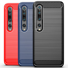 Luxury Case for Xiaomi Mi 10 10 Pro Cover Carbon Fiber Texture Brushed Case for Xiaomi Mi 10 Lite Shockproof phone Cover