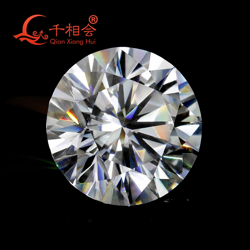 6.5mm DF  color white Round Brilliant cut moissanites loose stone with  certificate 6