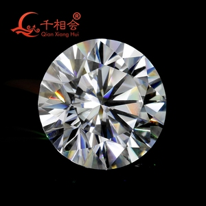 Image 5 - 6.5mm DF  color white Round Brilliant cut moissanites loose stone with GRA certificates