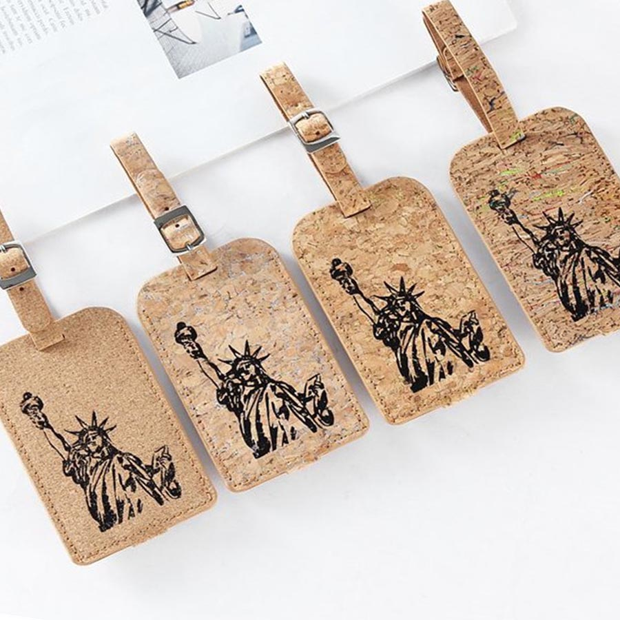 Jiexi Statue Of Liberty Suitcase Leather Luggage Tag Label Bag Pendant Handbag Travel Accessories Name ID Address Tags LT05