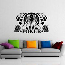 цены Casino Sticker Gambling Decal Gamble Poker Posters Vinyl Wall Decals Home Decoration Decor Mural Casino Sticker