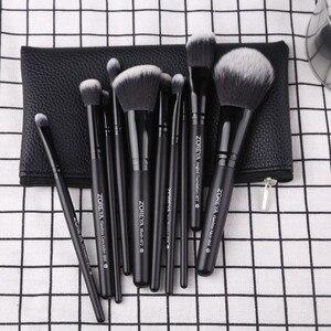 Image 2 - ZOREYA 10pcs Portable Makeup Brush Set for Mascara Eye Powder Eyebrow Cosmetics Tools