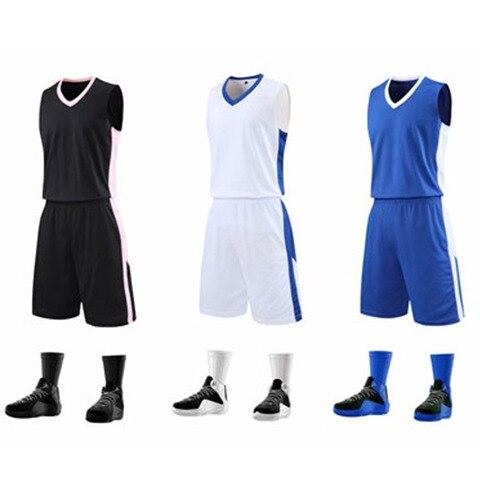 Shorts sem Mangas Uniforme da Equipe Camisa Treino Basquete Colete Personalizado &