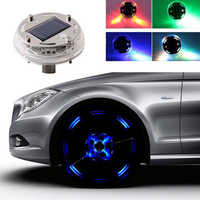 4 Modes 12 LED RGB Car Auto Solar Energy Flash Wheel Tire Rim Light for Auto Car Decor Colorful Atmosphere Lamp Car Ornament