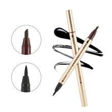 Black Waterproof Eyeliner Liquid Pen Double Head Long Lasting Quick Drying Smooth Eye Liner Pen Pencil Makeup Beauty MakeUp Tool pentel bln75 super smooth quick drying unisex pen