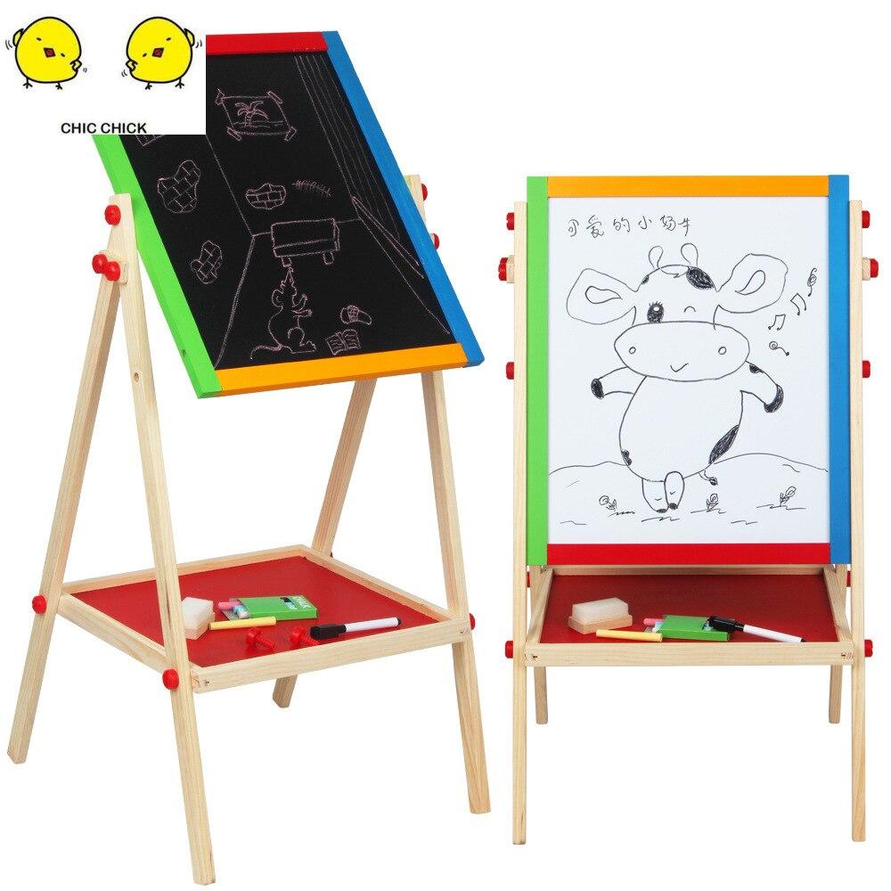 Neue Ankunft Holz Tafel Spielzeug Magnet Malerei Zeichnung Bord Kinder Kinder Pädagogisches Geschenk Chrismas Geschenk
