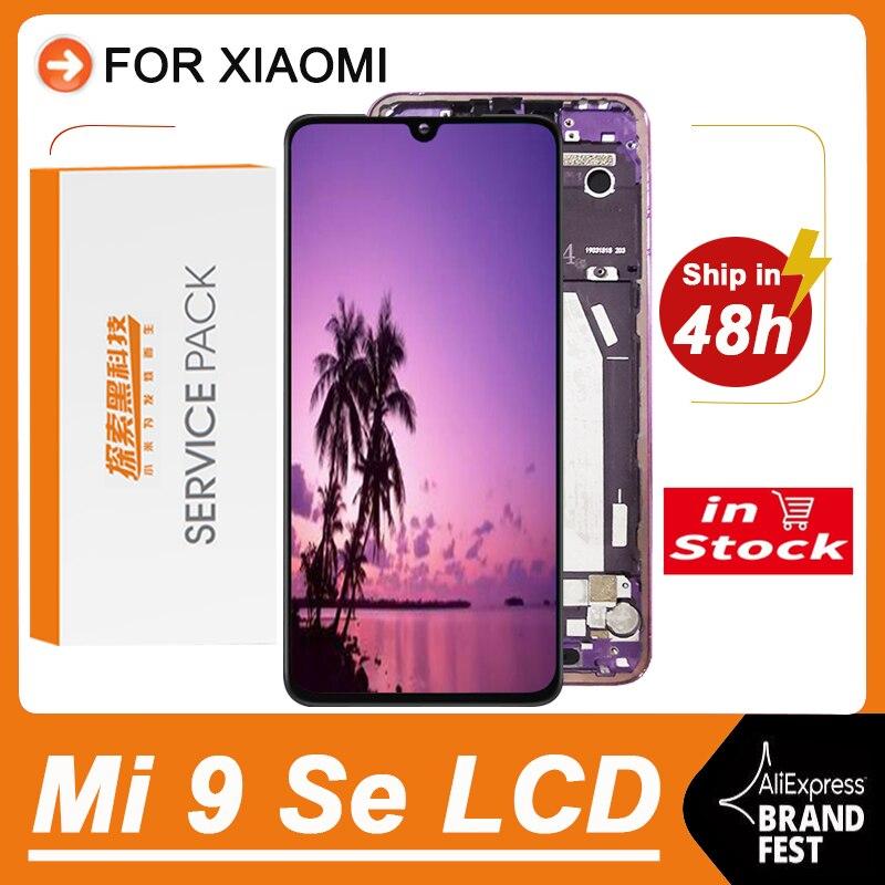 100% оригинальный сменный AMOLED дисплей 5,97 дюйма для Xiaomi Mi 9 Se, ЖК-дисплей, сенсорный экран, дигитайзер в сборе для M1903F2G LCD