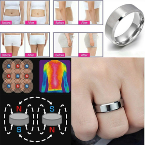 Stainless Steel Magnetic Rings Magnetic Weight Loss Ring Slimming Tools Fitness Reduce Weight Ring