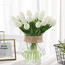 31 pièces/lot tulipes artificielles fleurs vraie touche fleur Bouquet faux fleur cadeau pour anniversaire fête de mariage maison jardin décoration