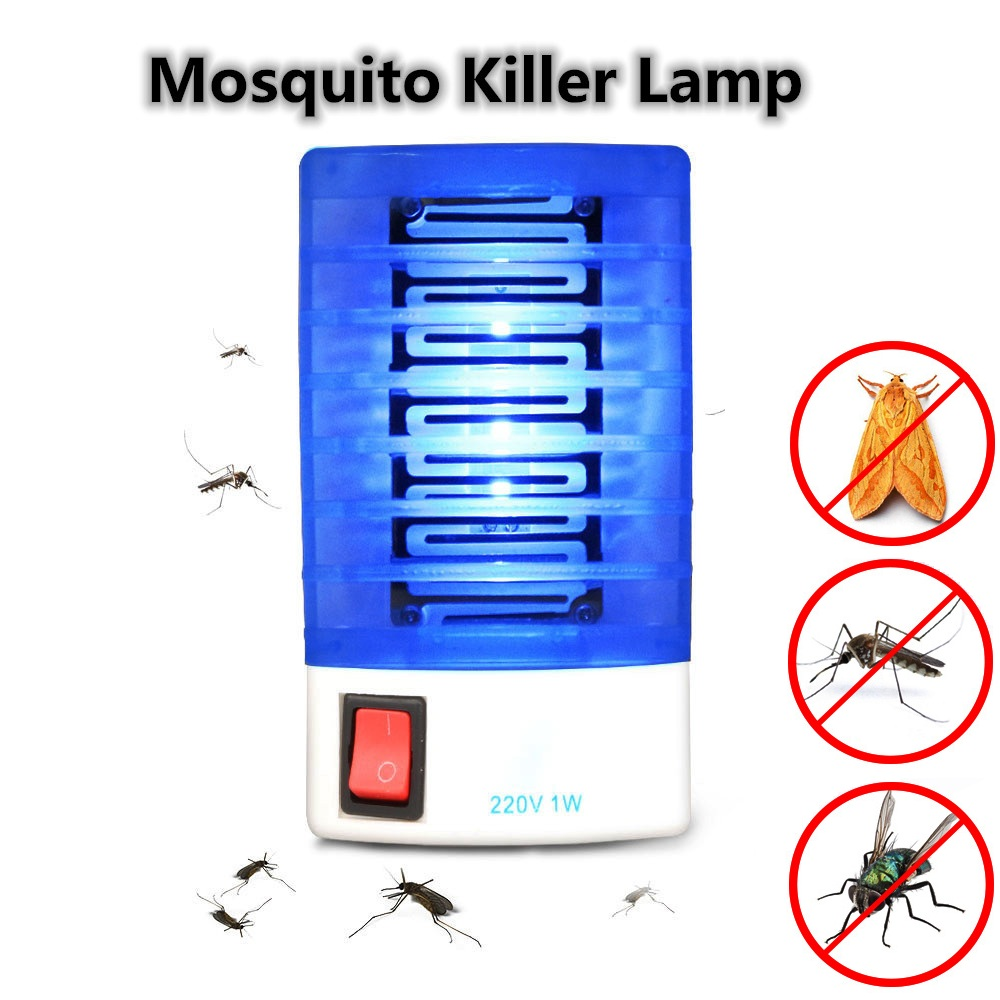 ZINUO AC110V/220V Electric Mosquito Killer Lamp EU/US Socket Mosquito Fly Bug Insect Trap Killer Light  Zapper Night Light