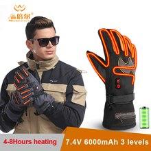 Warmspace 7.4V 5600 Mah Motorfiets Elektrische Oplaadbare Verwarmde Handschoenen Winter Waterdichte Lithium Batterij Zelf Verwarming Ski Handschoenen
