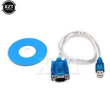 Ch340 cabo usb para rs232 cm cabo usb para 9 pinos adaptador db9 cabo rs232 usb adaptador para pc acessórios notebook windows 98 xp 7 8