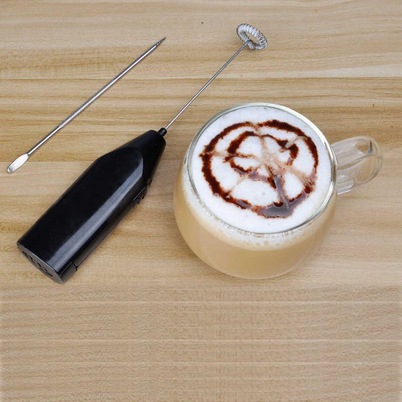 Nova máquina de café leite agente de formação de espuma para chicoteamento batedor portátil handheld elétrica batedor de ovos ordenha liquidificador de café bubbler