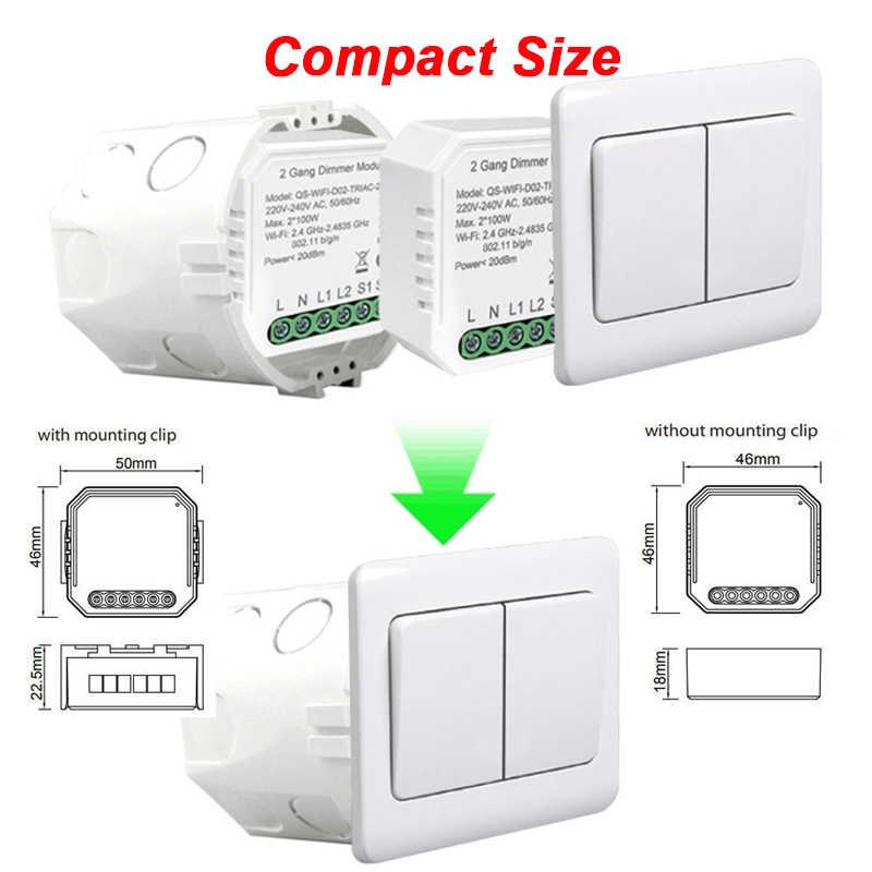 funciona con Alexa Google Home M/ódulo de interruptor inteligente Zigbee control remoto interruptor de atenuaci/ón inteligente 1//2 cuadrilla 220 V con m/ódulo de interruptor de luz neutral de 2 v/ías