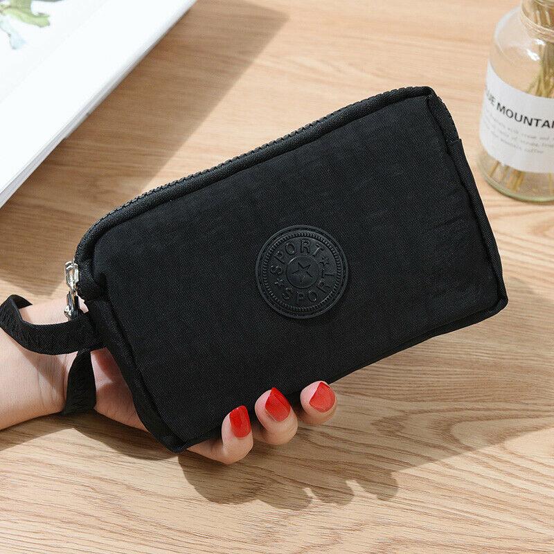 Fashion Womens Mini Phone Bag Short Wallet Three-Layer Zipper Purse Coin Purse