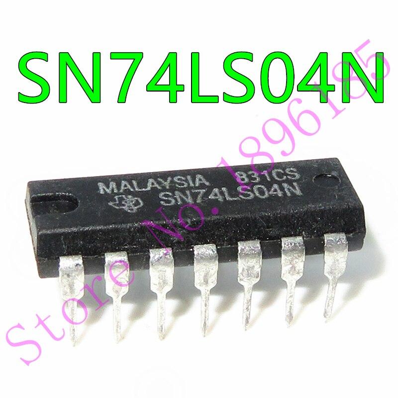 10pcs//lot SN74LS04N DIP-14 SN74LS04 HD74LS04P 74LS04 74LS04N DIP IC