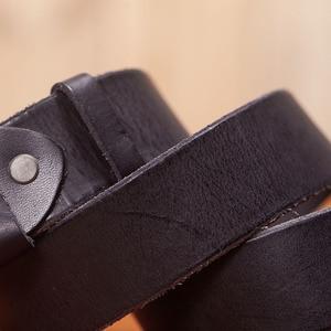 Image 4 - VAMOS KATOAL Men leather belt,Retro top quality Genuine Leather Belts for men, Male metal Pin Buckle belt