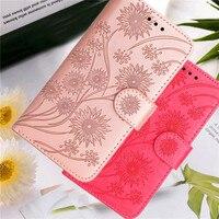 3D en relieve de cuero flor caso para Xiaomi Redmi 9T 9A 9AT 9 9C NFC 7A 8A Funda cubierta Redmi Nota 10 Pro 10s 9s 9T 8T 7 coque