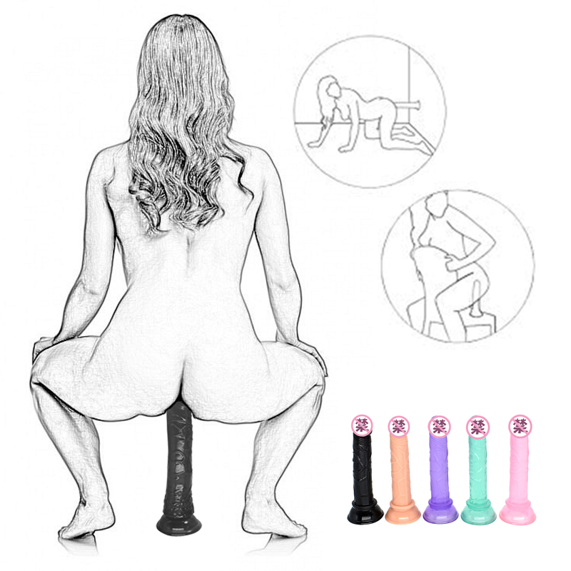14.5 CM Realistic Silicone Dildo Anal No Vibrator Butt Plug Penis Suction Cup G Spot Strapon Dildo Adult Game Sex Toys For Women