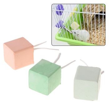 Hamster Teeth Grinding Stone Mineral Calcium Rabbit Rat Squirrel Toys Cube Hang Dropshipping image